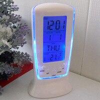 Neue Uhren Gefrorene Uhr Despertador Schreibtisch Uhr Nacht Alarm Elektronische Uhr Platz Geschenk Für Kinder Freies Verschiffen