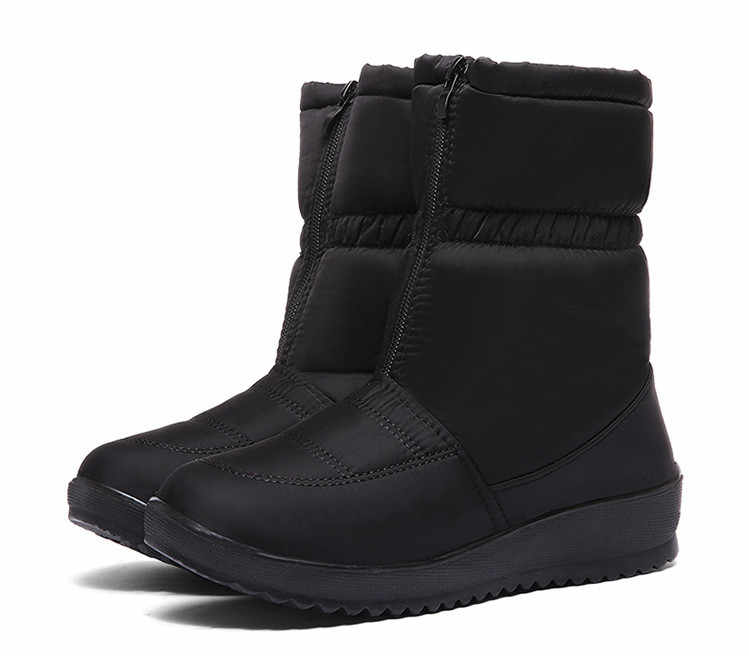 Kış Ayakkabı Kadın Kar yağmur çizmeleri Peluş Aşağı Platformu yarım çizmeler Kadınlar için Sıcak Kürk Ayakkabı Artı Boyutu Fermuar Botas Mujer 2019
