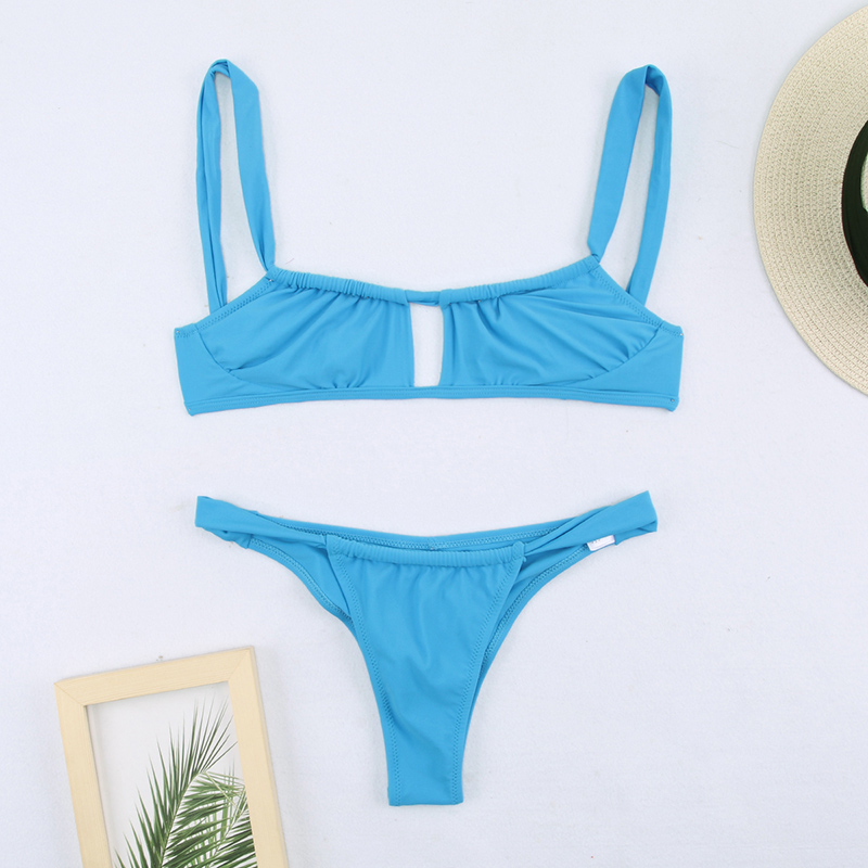 Hedcc2dc990084edea0d73c793175c1d2W Miyouj Sexy Bandeau Bikini Bandage Swimwear Women Solid Swimwear 2019 Bathing Suits Rings Bikini Set Hollow Out Biquini Swimwear