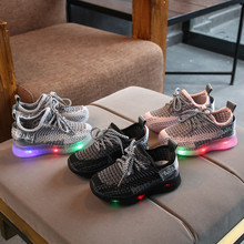 Buy 2019 Toddler Boy Sneakers Children Baby Boys Mesh Led Light Luminous Running Sport Sneaker Shoes Chaussure Lumineuse Pour Garcon directly from merchant!