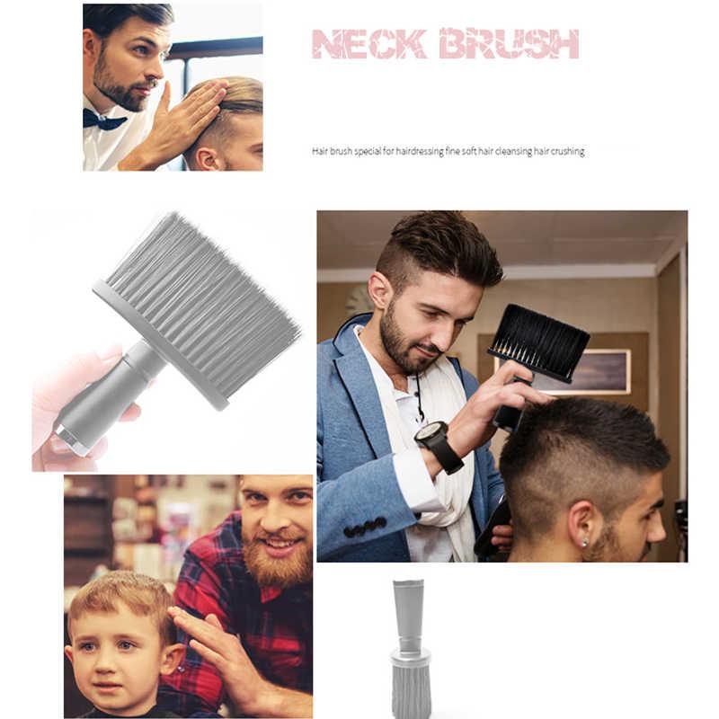 Cepillo de pelo suave para el cuello, plumero facial, cepillo de limpieza para cortar el pelo para peluquería barbería, herramientas de estilismo