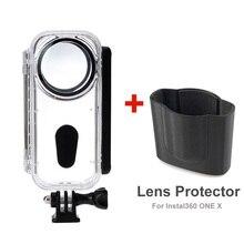 새로운 5 m 보호 다이브 하우징 케이스 insta360 용 x 수영 보호 다이브 쉘 렌즈 커버 스포츠 카메라 액세서리