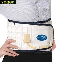 Купить с кэшбэком 1 Set Health Care Back Posture Corrector Air-filled Waist Lumbar Back Belt Support Brace Bandage Back Pain Release Massager