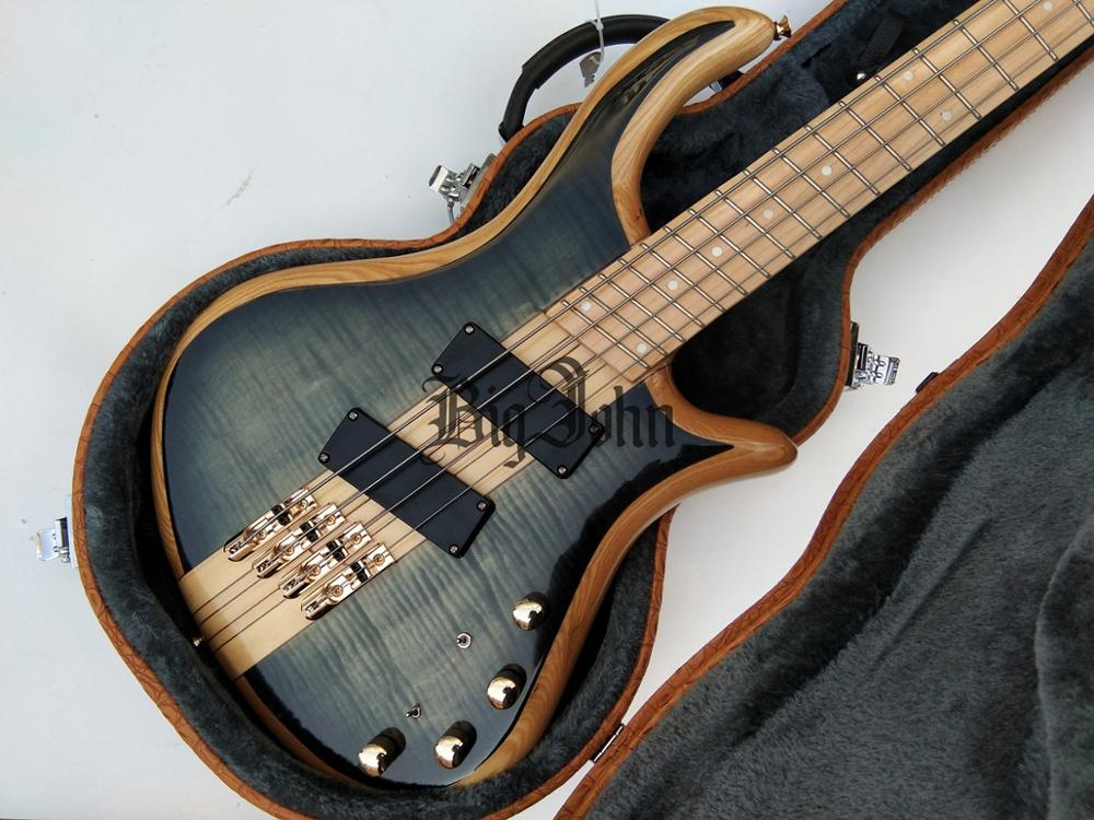 New Fan Fretted 4 Strings Electric Bass Guitar,Sandwich Elm Body&Maple Neck Maple Fingerboard BJ-256 image