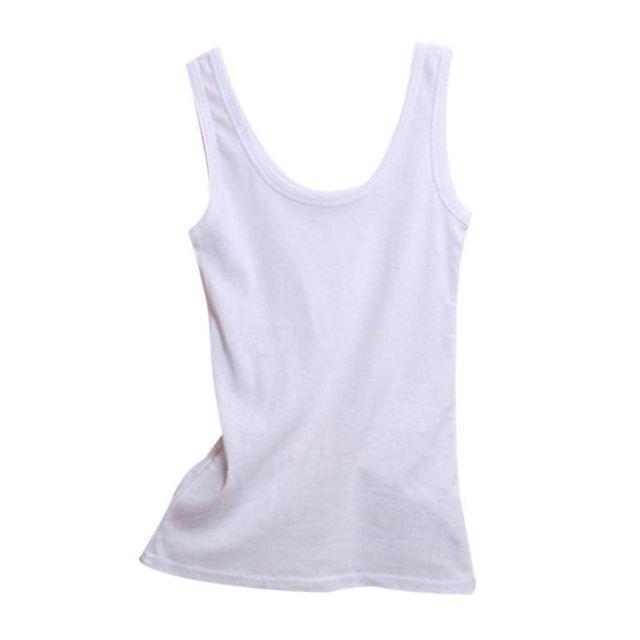 2019 Spring Summer Tank Tops Women Sleeveless Round Neck Loose T Shirt Ladies Vest Singlets Camisole Cotton Ladies Thin Vest 1 6