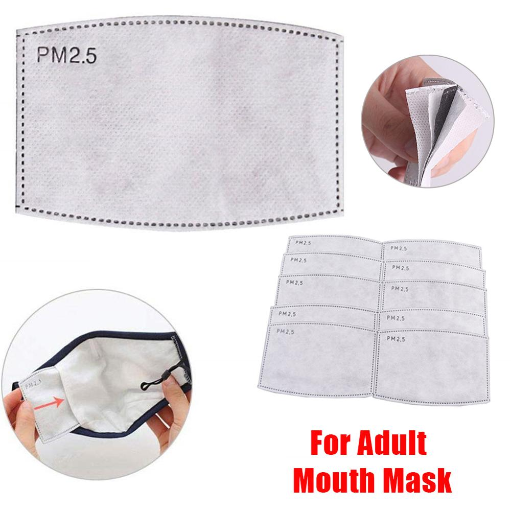 10/20/30 Pcs 5 Layers PM2.5 Face Mask Filter Activated Carbon Filter For Mouth Adult Dust Haze Mask Protective Filter For Mask