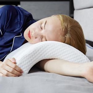 Image 5 - Łuk w kształcie litery U zakrzywiona poduszka z pianki Memory Sleeping Neck poduszka ortopedyczna z pustym wzorem podłokietnik poduszka ręczna dla pary podkładów bocznych