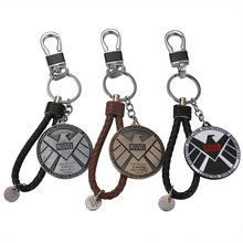 Avengers SHIELD Agent's Seal Keychain Pendant Car Key Accessories Marvel Movie Anime Best Gift for Family or Friends(China)