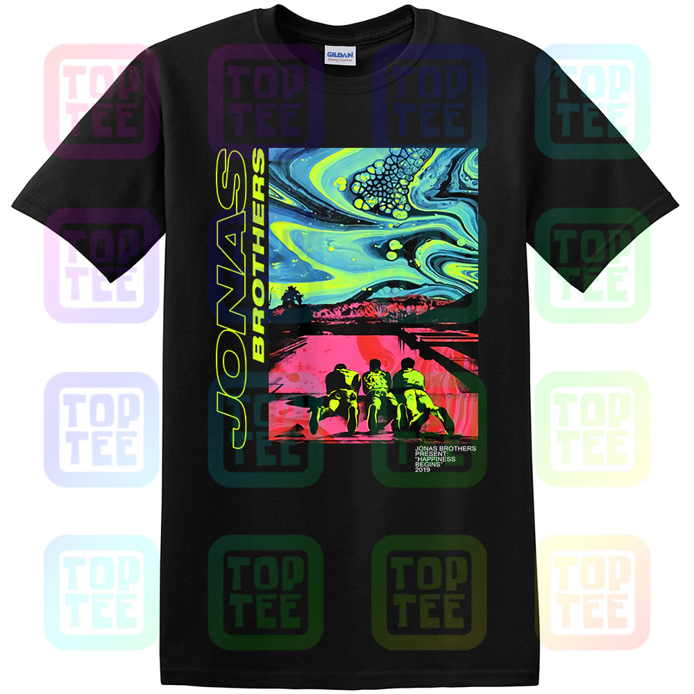 Jonas Brothers Shirt Happiness Begins Men's T Shirt Black