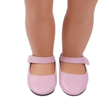 Cute Pink Slippers New Born Baby Doll Shoes for 18
