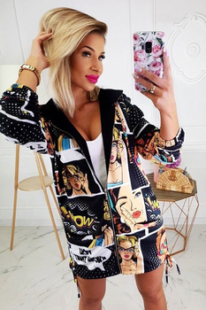Women Casual Pullover Autumn Zip UP Outerwear Ladies Top Long Coat Jacket Fashion Casual Long Sleeve Spring autumn fashion loose lapel coat casual women letter printed long sleeve jacket ladies sweet jackets outerwear