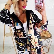 Women Casual Pullover Autumn Zip UP Outerwear Ladies Top Long Coat Jack
