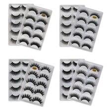 5 pairs of handmade eyelashes 3D soft mink like false eyelashes natural long eyelashes makeup false eyelashes extension tools