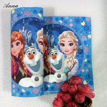 10pc/bag Cute Cartoon Frozen Anna And Elsa Party Supplies Paper Napkin Birthday And Party For Kids Party Favors Napkins(China)