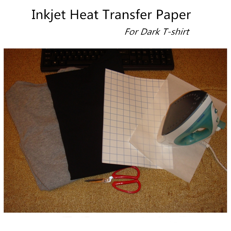 DIY A4 Size Dark Fabric Transfer Paper For Black Or Dark Textiles For Most Announced Inkjet Printers