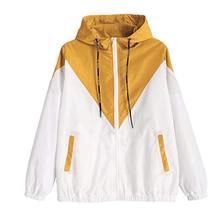 Women's Basic Jacket Women's Zipper Pocket Casual Long Sleev