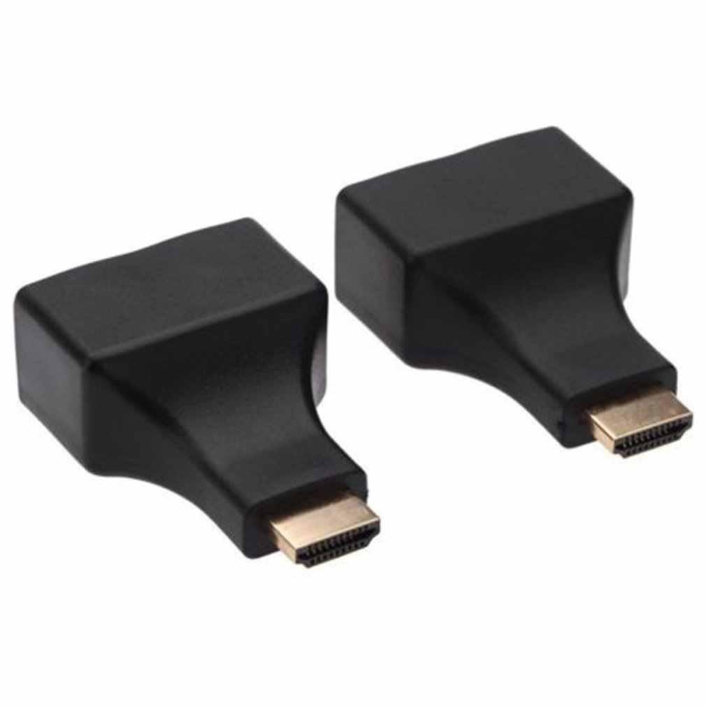 新 2 ピース/セット Hdmi デュアルポート RJ45 ネットワークケーブルエクステンダーに Cat5e/Cat6 ケーブル 1080 用 HDTV HDPC PS3 STB 30 メートル