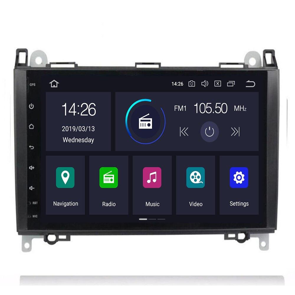 9Inch Android 9 Auto GEEN DVD Radio voor Mercedes/Benz/Sprinter/B200/W245/B170 /W209/W169 VW Crafter met BT 4GWifi GPS Radio 4GRAM