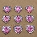 50 шт. 14 мм блестящие стразы из смолы розовые сердца с плоской задней стороной Скрапбукинг для телефона/свадебное украшение ремесло