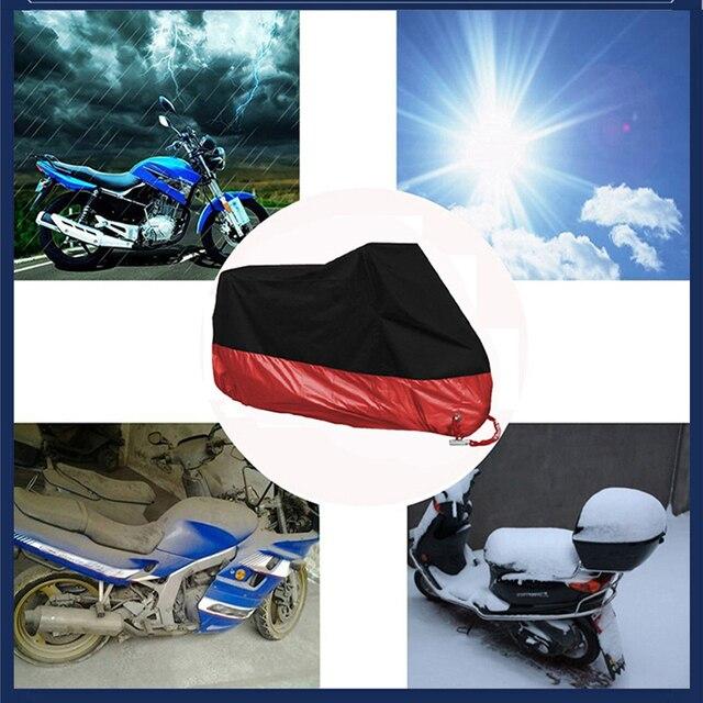 Moto couverture M L XL 2XL 3XL 4XL universel extérieur protection Uv pour Scooter imperméable vélo pluie anti-poussière couverture 15 couleurs 5