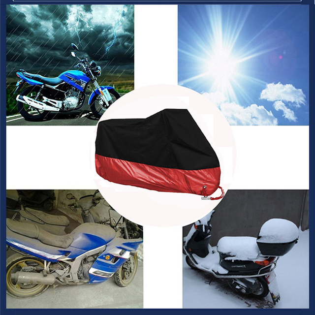 Motorcycle cover M L XL 2XL 3XL 4XL universal Outdoor UV Protector Scooter All Season waterproof Bike Rain Dustproof cover 190T 5