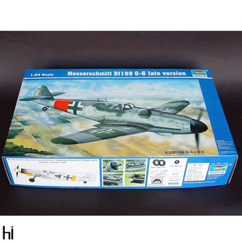 Trumpeter 02408 1/24 Messerschmitt Bf109 G-6 Late Version Fighter Plane Aircraft Military Assembly Plastic Model Building Kit image