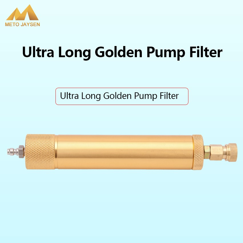 High Pressure Hand Pump Filter 180mm Long 40MPA M10x1 PCP Paintball Airforce Water-Oil Separator Air Filtering 8mm Quick Connect