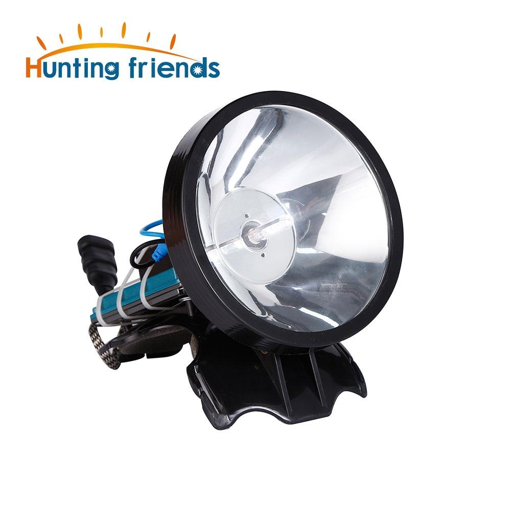 Superbright 12V Headlamp 100W Xenon Headlight External DC Power Fast Starting Hunting Fishing Lamp Searchlight