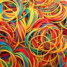 Резиновое прочное эластичное кольцо-держатель для канцелярских принадлежностей 200 шт./лот, желтого/белого/черного цвета, диаметр 40 мм, кольц...