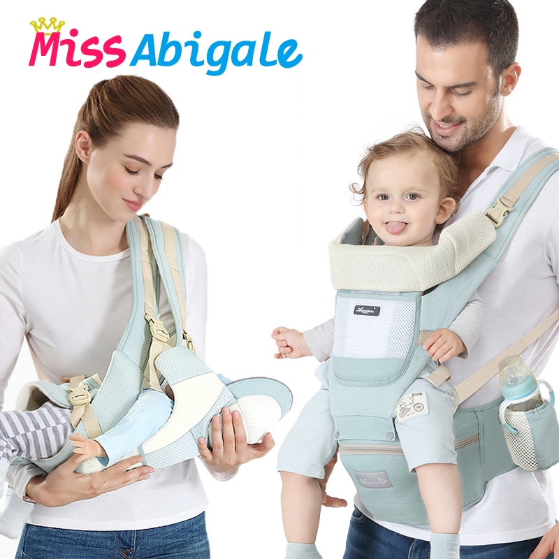 MissAbigale Ergonomic Baby Carrier Backpack Infant Baby Carrier Kangaroo for Children Hipseat Heaps Baby Sling for Newborns Backpacks & Carriers     - AliExpress