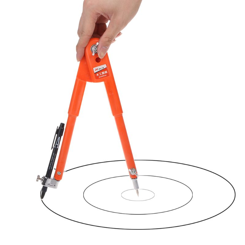 Carpenter Precision Pencil Compasses Large Diameter Adjustable Dividers Edge Marking Scribing Compass