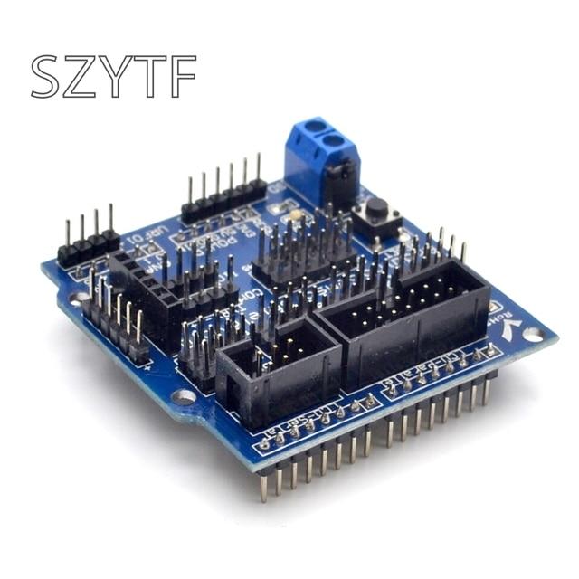 Sensor Shield V5.0 sensor expansion board MEGA R3 V5 for UNO  Arduino electronic building blocks of robot parts