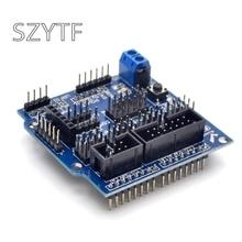 센서 실드 v5.0 센서 확장 보드 uno 메가 r3 v5 arduino 전자 빌딩 블록 로봇 부품