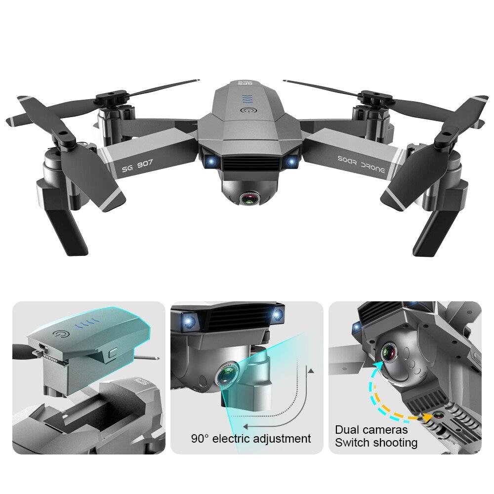 SG907 Drone GPS quadrirotor avec 4K HD double caméra grand Angle Anti-secousse WIFI FPV RC Drones pliables GPS professionnel suivez-moi - 3