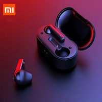 in stock Xiaomi T3 TWS Fingerprint Touch Wireless Headphones Bluetooth V5.0 3D Stereo Dual Mic Noise Cancelling Earphones