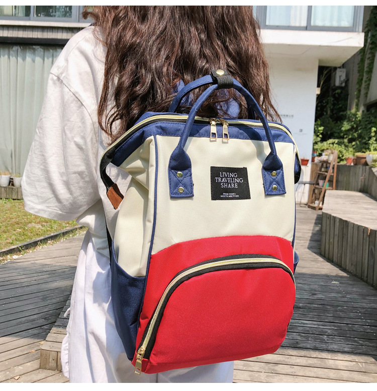 Thermal Large-Volume MOTHER'S Bag Waterproof Fashion Backpack Tin Foil Insulated Multi-functional Mummy Bag Pregnant Women Bag