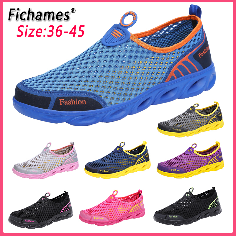 Fashion Casual Shoes Lightweight Summer Breathable Men Shoes Outdoor Comfortable Women Footwear Male Ladies Walking Shoes 36-45