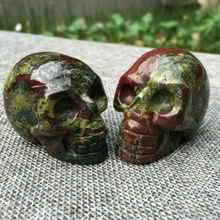 100g Natural dragon blood stone quartz skull hand carved crystal reiki healing 1pc