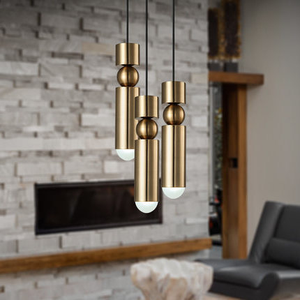 Modern Hanging Lamp Light Led Dinning Bed Room Bedroom Foyer Round Glass Ball Black Gold Nordic Simple Modern Pendant Light Lamp