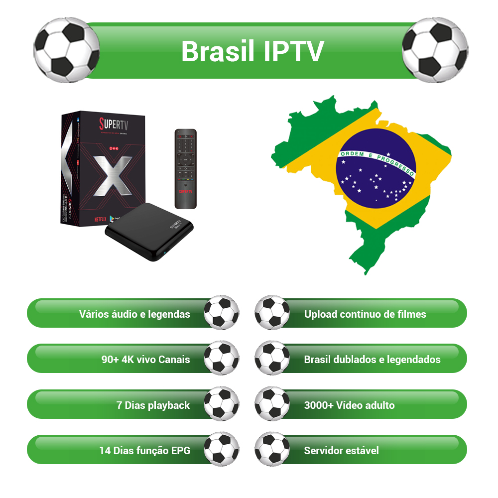 Supertv Black X Android Tv Box With 750+ Channels Supertv IPTV The Best Brasil IPTV Portuguese Live EPG PVR Playback Free Test