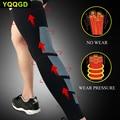 1 шт. ноги Srpport восстановления компрессия ноги рукава-Спорт Футбол Баскетбол Велоспорт стреч ноги колено с длинным рукавом