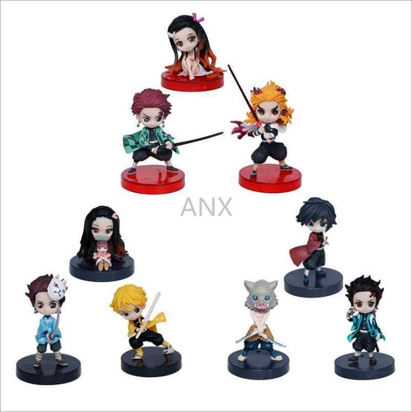 Demon Slayer Toy Gift Q version Agatsuma Zenitsu 8cm PVC Figure