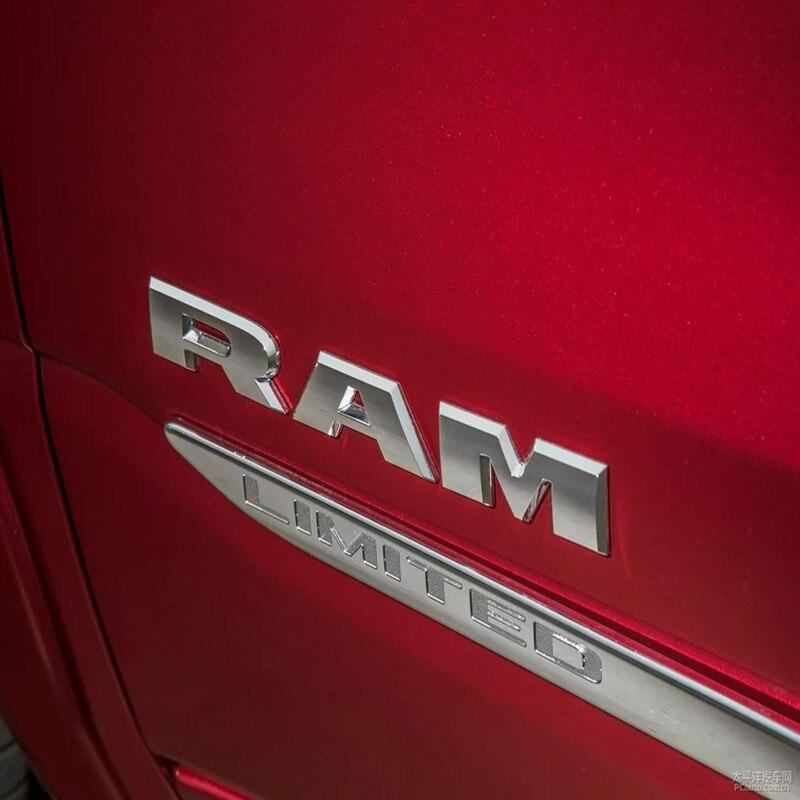 Auto Accessories Car Body RAM Letter Logo Emblem Door Fender Badge Sticker Decals For Dodge Ram 1500 2015 2016 2017 2018