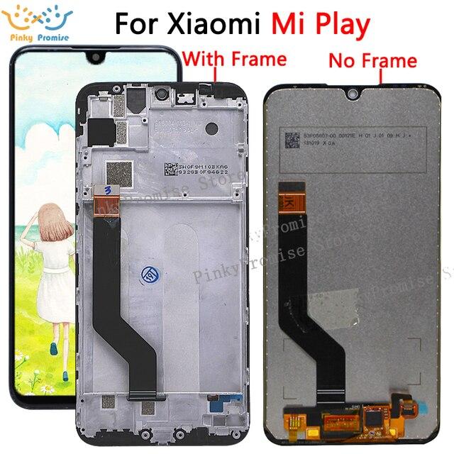 """Originale Per 5.84 """"Xiao mi gioco LCD Display Touch Screen Digitizer Assembly Per Xiao mi mi gioco LCD Con telaio Sostituire M1901F9E"""