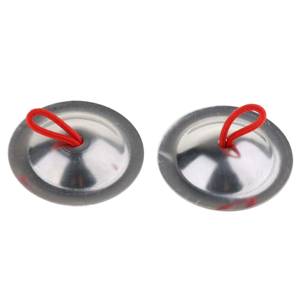 1 Pair of Mini Hand Cymbals Gong Percussion Instrument for Baby Kids Early Musical Developmental Toy