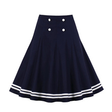 Sisjuly Women Vintage High Waist Sweet New A-line