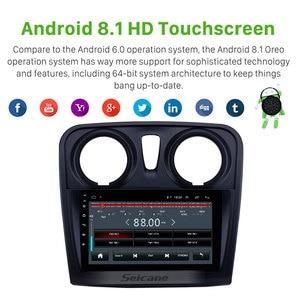 Image 3 - Seicane 9 inç araba multimedya oynatıcı 2 din Android 10.0 Renault Dacia Sandero 2012 2013 2014 2017 destek arka kamera