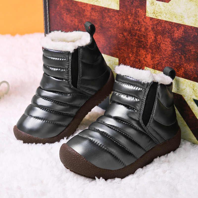 Kinderen herfst winter katoenen schoenen warm jongens meisjes snowboots plus fluwelen kinderen waterdicht doek sport schoenen