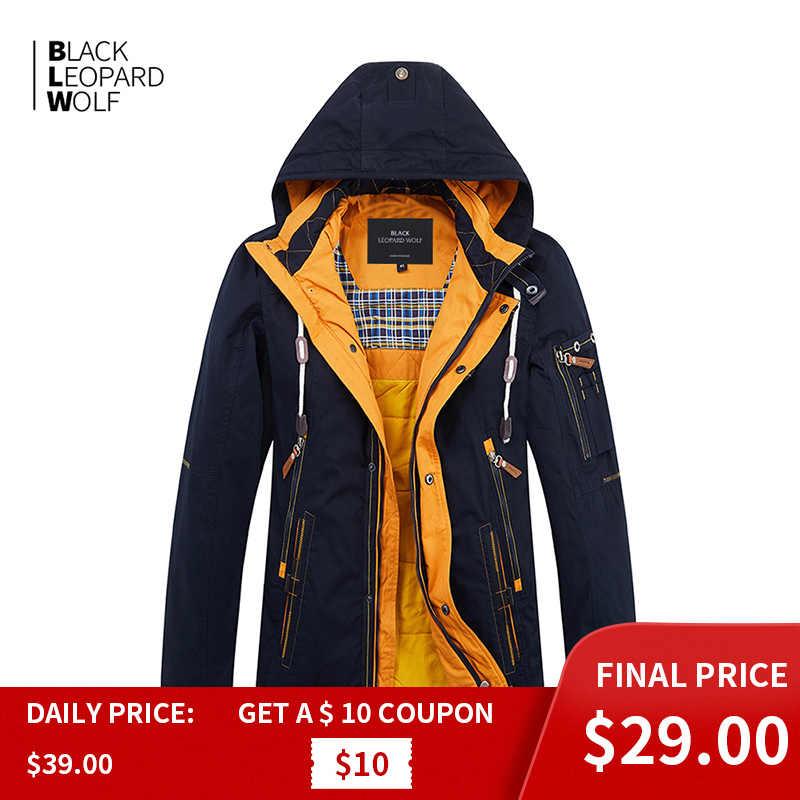 Blackleopardwolf 2019 nuova molla di arrivo uomini giacca di cotone di spessore di alta qualità con un cappuccio giù giacca per la primavera ZC-027