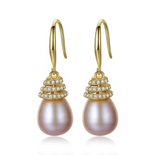 YUEYIN Silver 925 Dangle Earrings Gold Plated Freshwater Nature Pearl for Women Korean Earrings Bohemian Jewelry Boutique цены